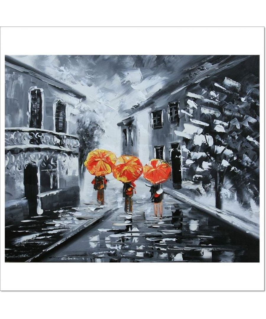 Image for Oil Painting - Open The Umbrellas, It'S Raining! Cm. 50x60