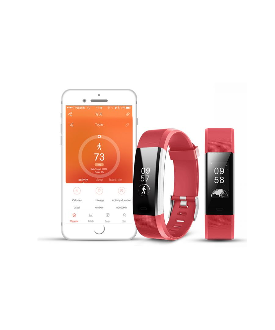 Image for Aquarius Heart Rate Monitoring Fitness Tracker  AQ125HR - RED