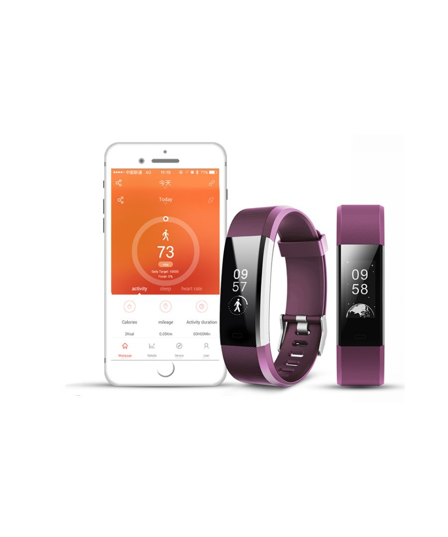 Image for Aquarius Heart Rate Monitoring Fitness Tracker  AQ125HR - Purple