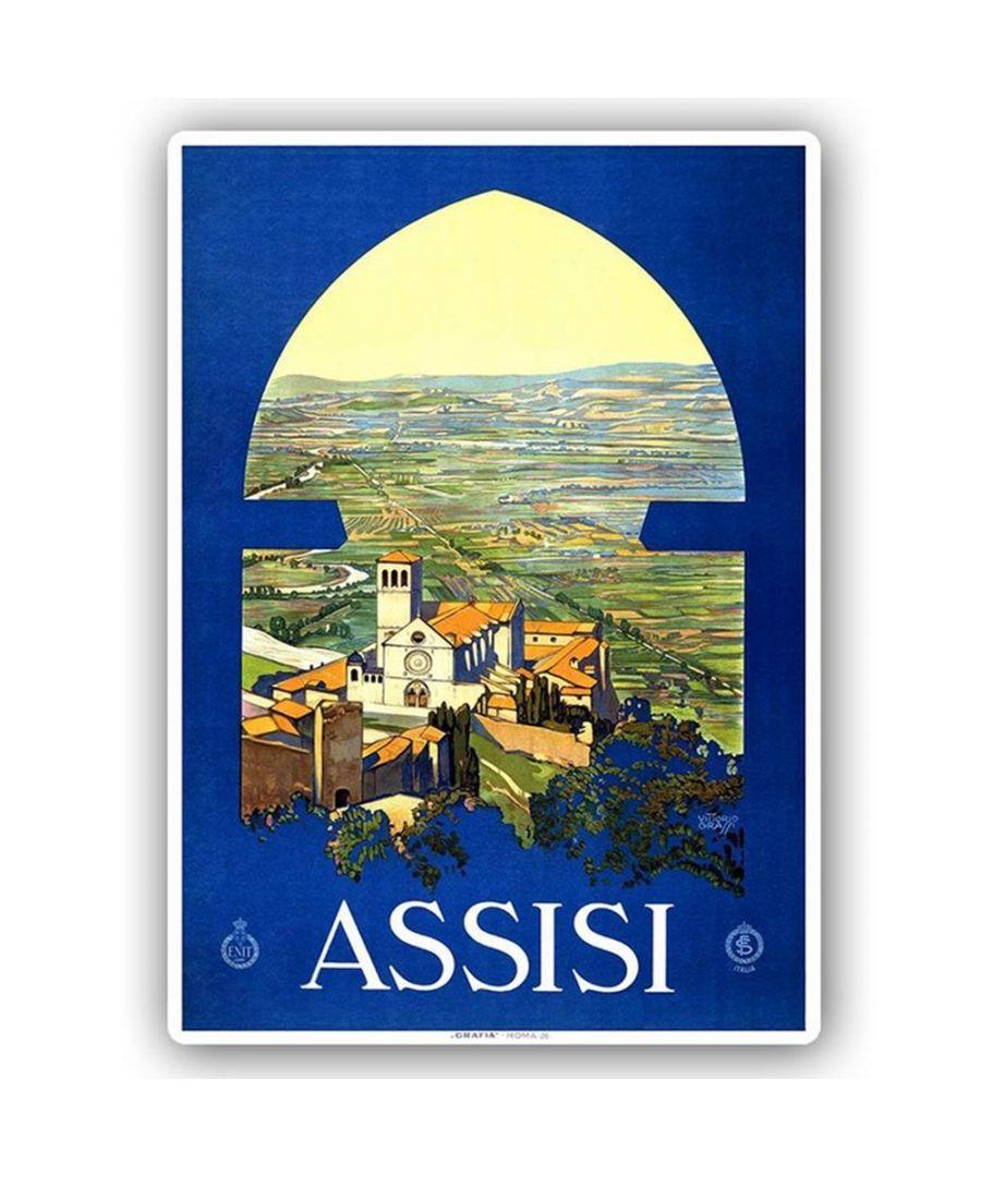 Image for Vintage Tourist Poster - Metal Print  - Assisi
