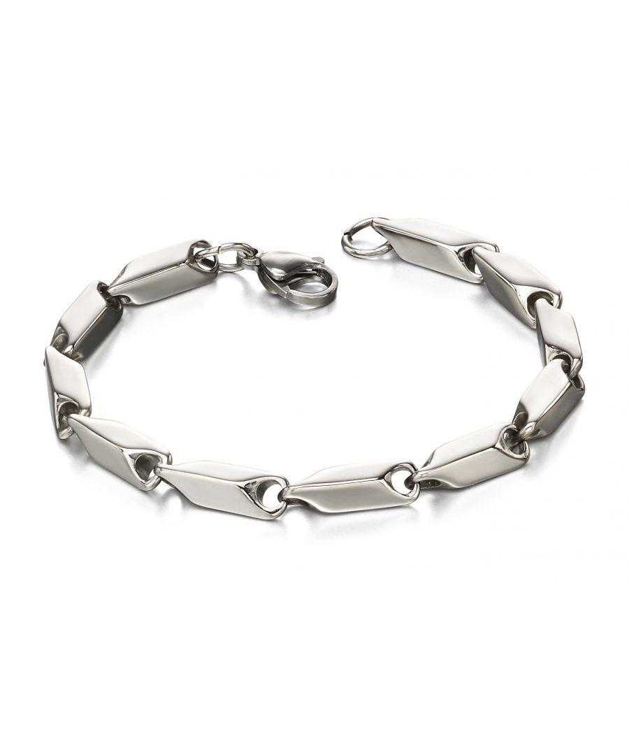 Image for Fred Bennett Men Silver Chain Bracelet of Length 21cm B4971