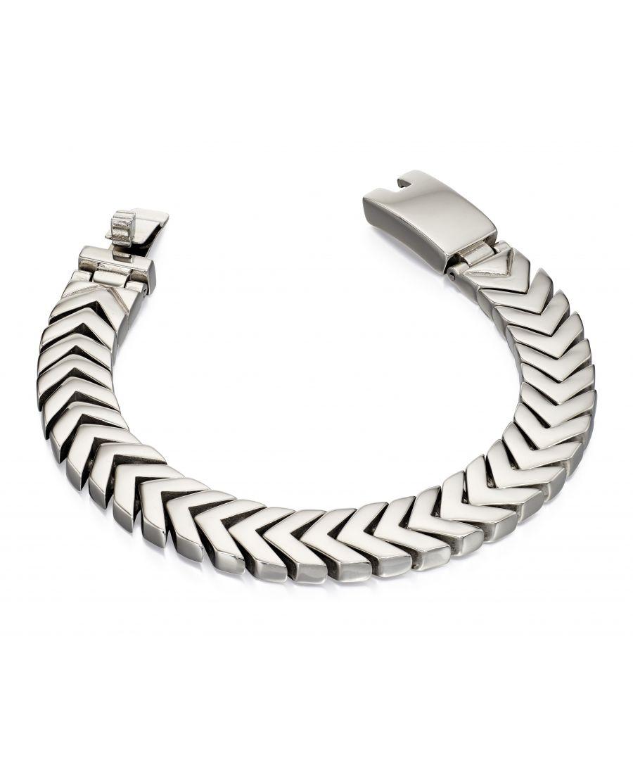 Image for Fred Bennett Men Silver Chain Bracelet of Length 19cm B4996