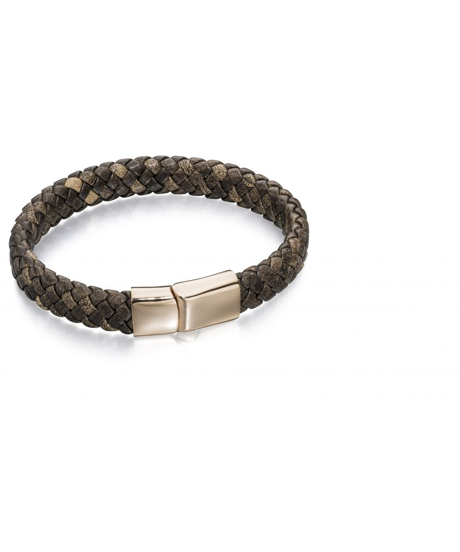 Image for Fred Bennett Men Brown Strand Bracelet of Length 19cm B5001