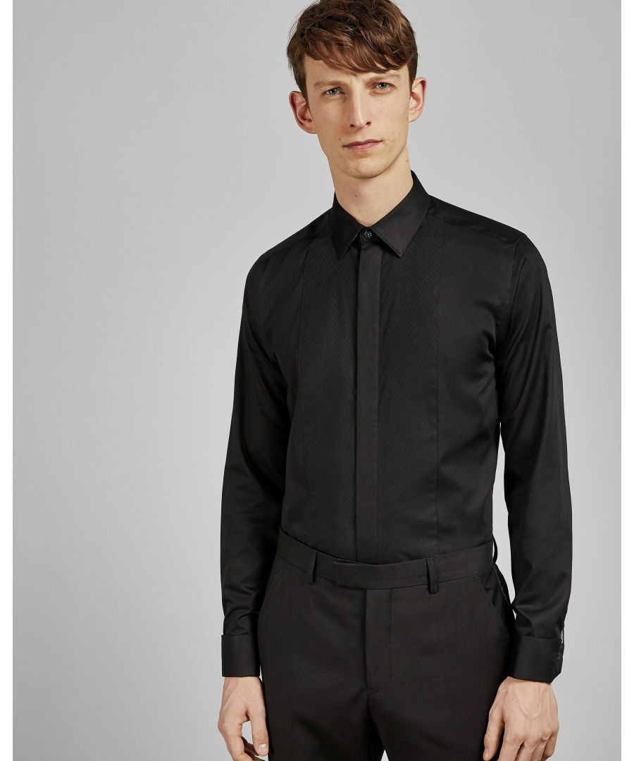 Image for Ted Baker Babana Long-Sleeved Plain Phormal Shirt, Black