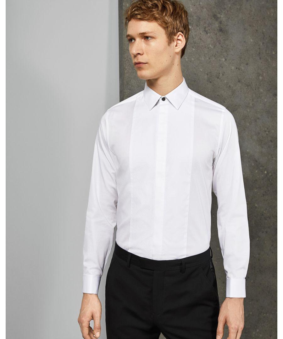 Image for Ted Baker Babana Long-Sleeved Plain Phormal Shirt, White