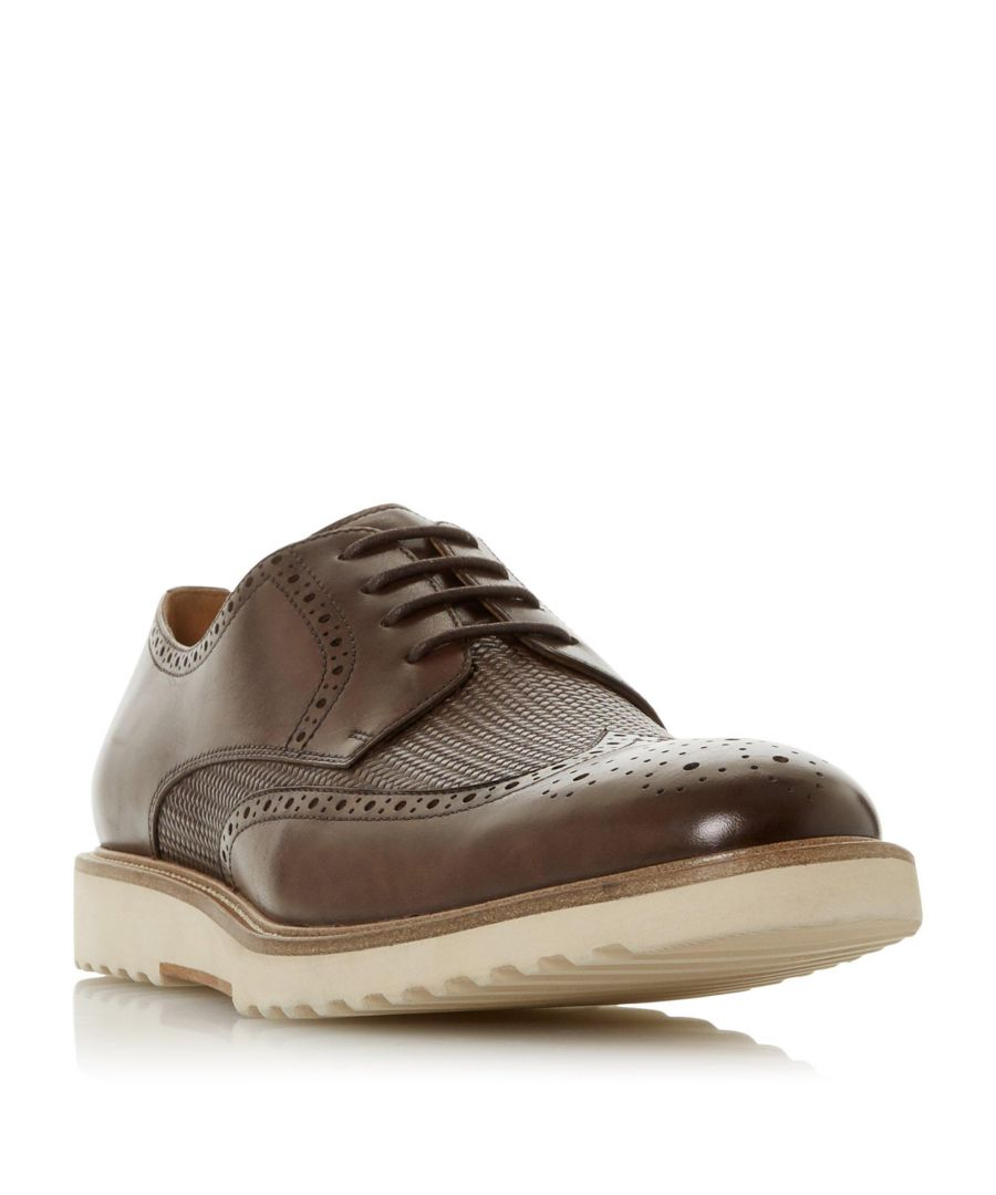 Image for Dune Mens BADGERS Woven Vamp Brogue