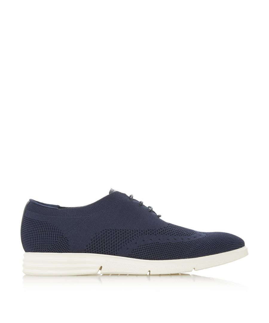 Image for Dune Mens BALOTELLI Knitted Brogue Wedge Shoe
