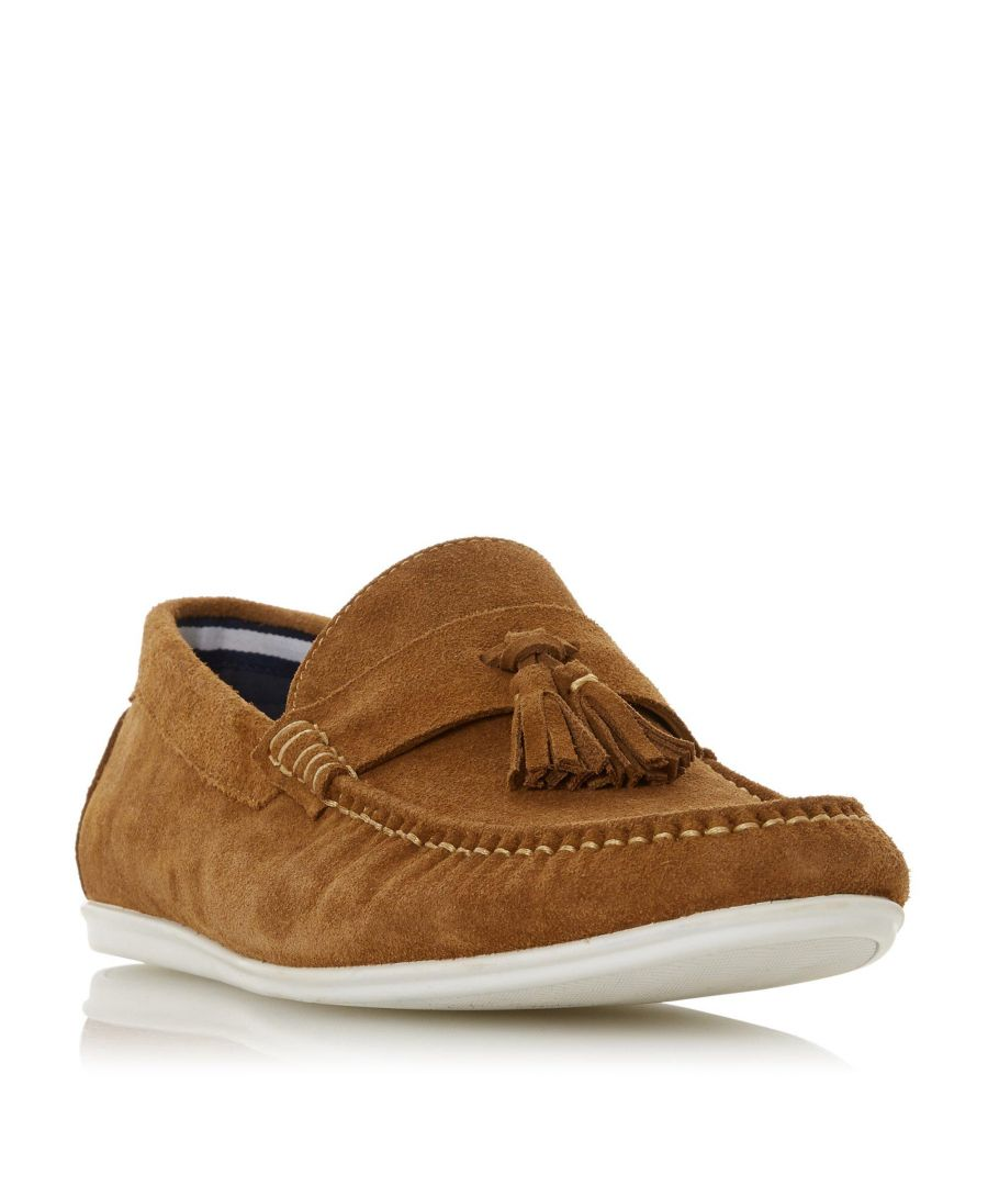 Image for Dune Mens BALTICS Wedge Sole Tassel Loafer