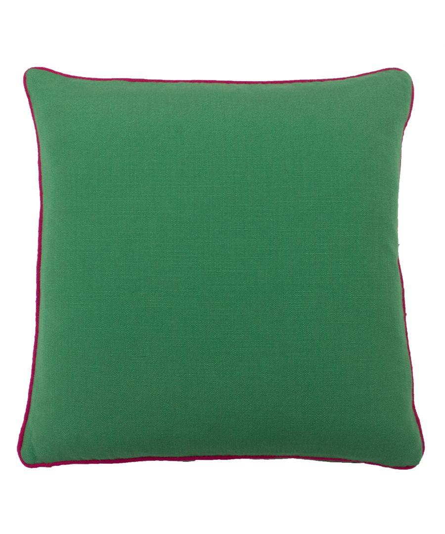 Image for Bamboo 45X45 PCushion Emerald/Fuchs