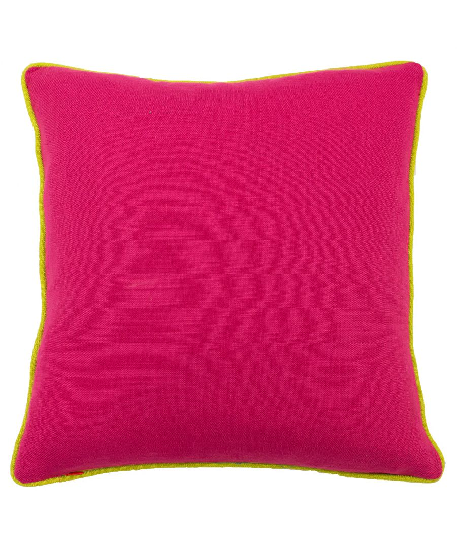 Image for Bamboo 45X45 PCushion Fuchsia/Lime