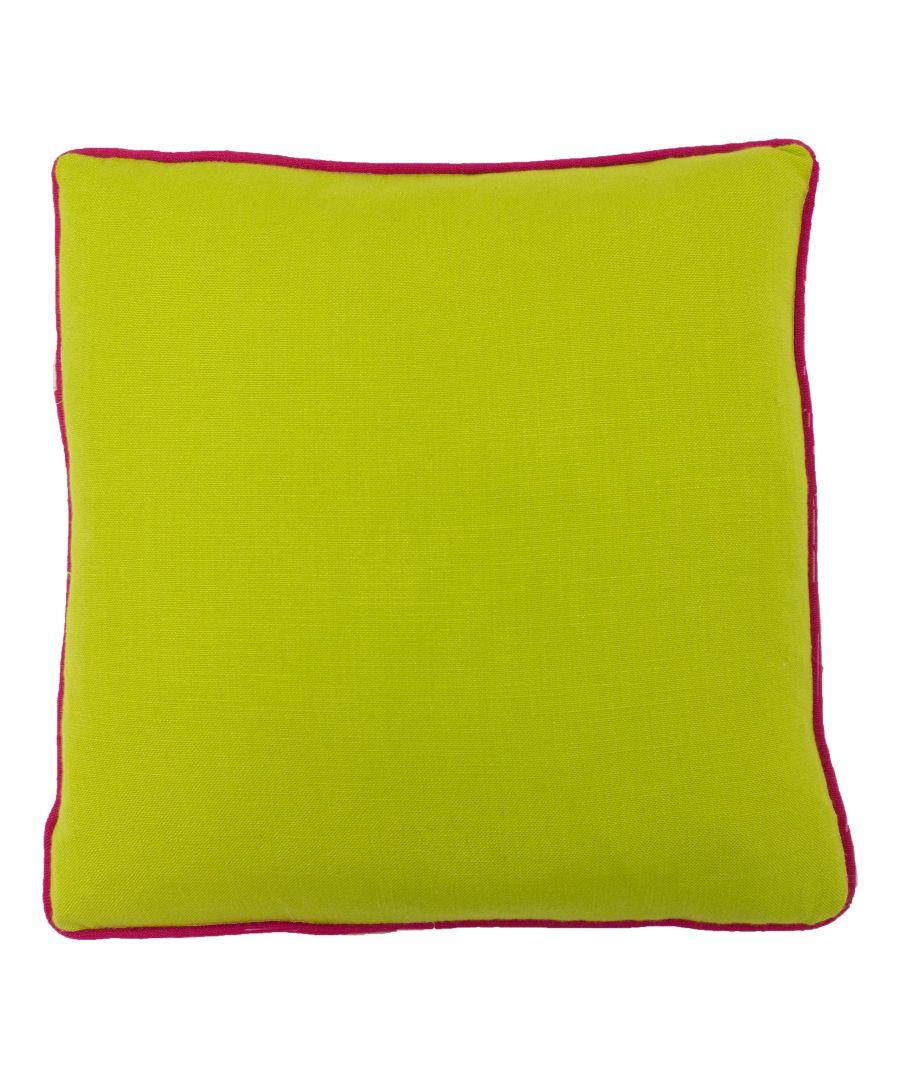 Image for Bamboo 45X45 PCushion Lime/Fucshia