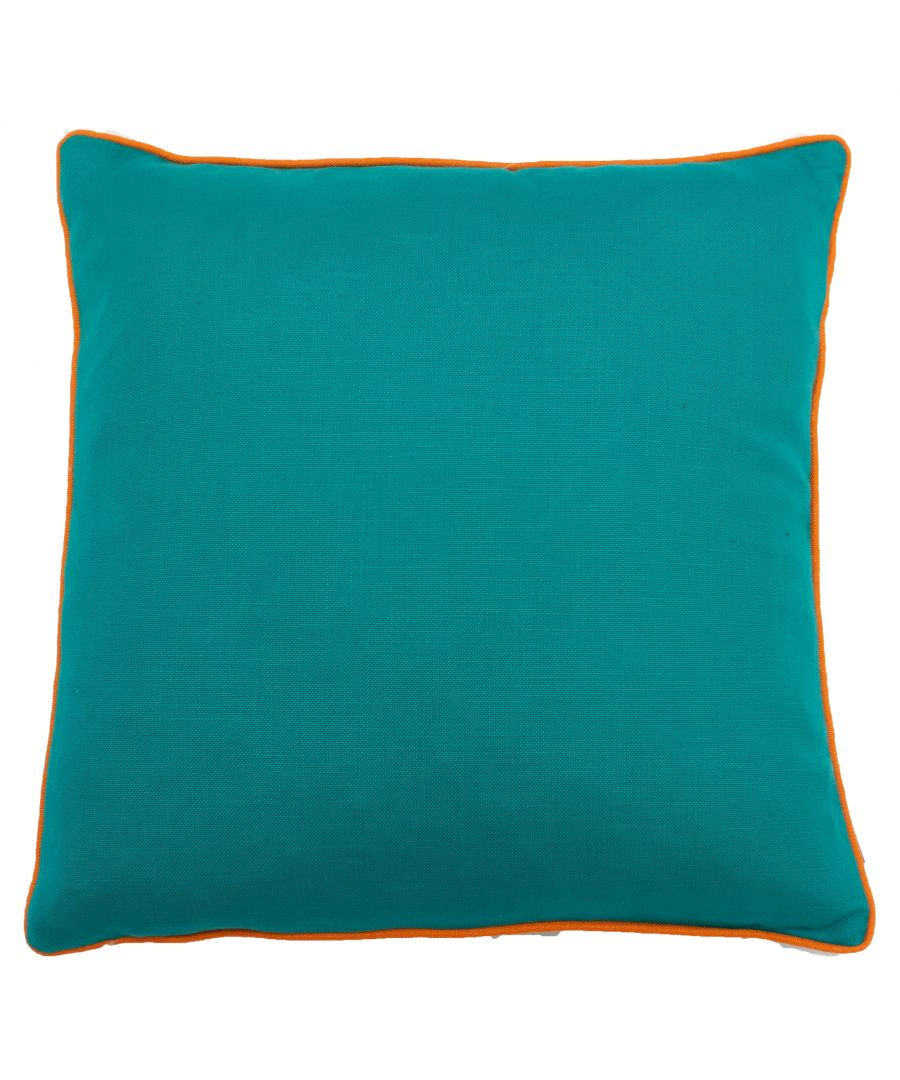 Image for Bamboo 45X45 PCushion Turq/Orange