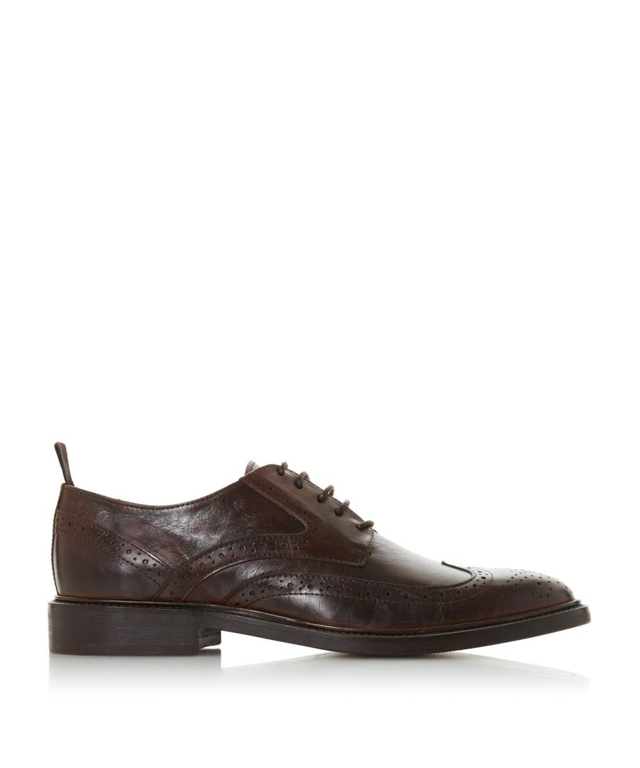 Image for Bertie Mens BANQUE Distressed Leather Brogue