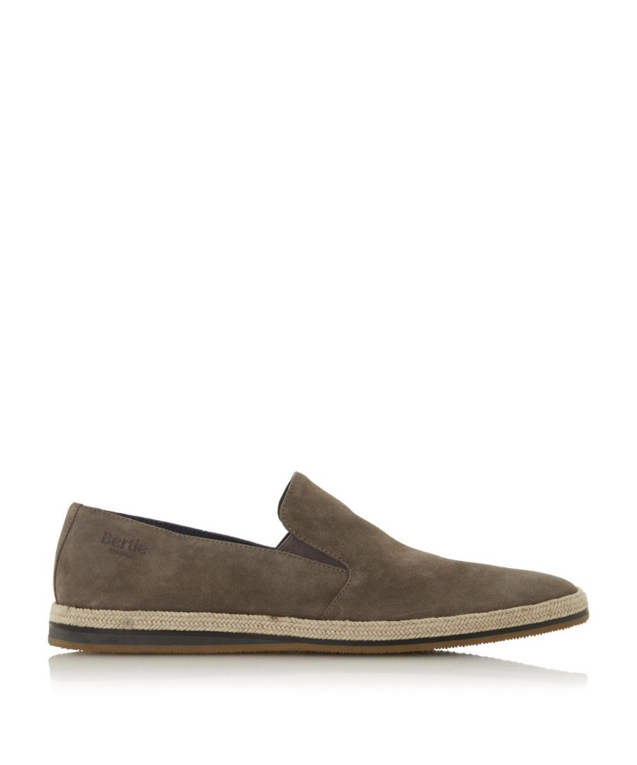 Image for Bertie Mens BARAGE Suede Espadrille Shoes