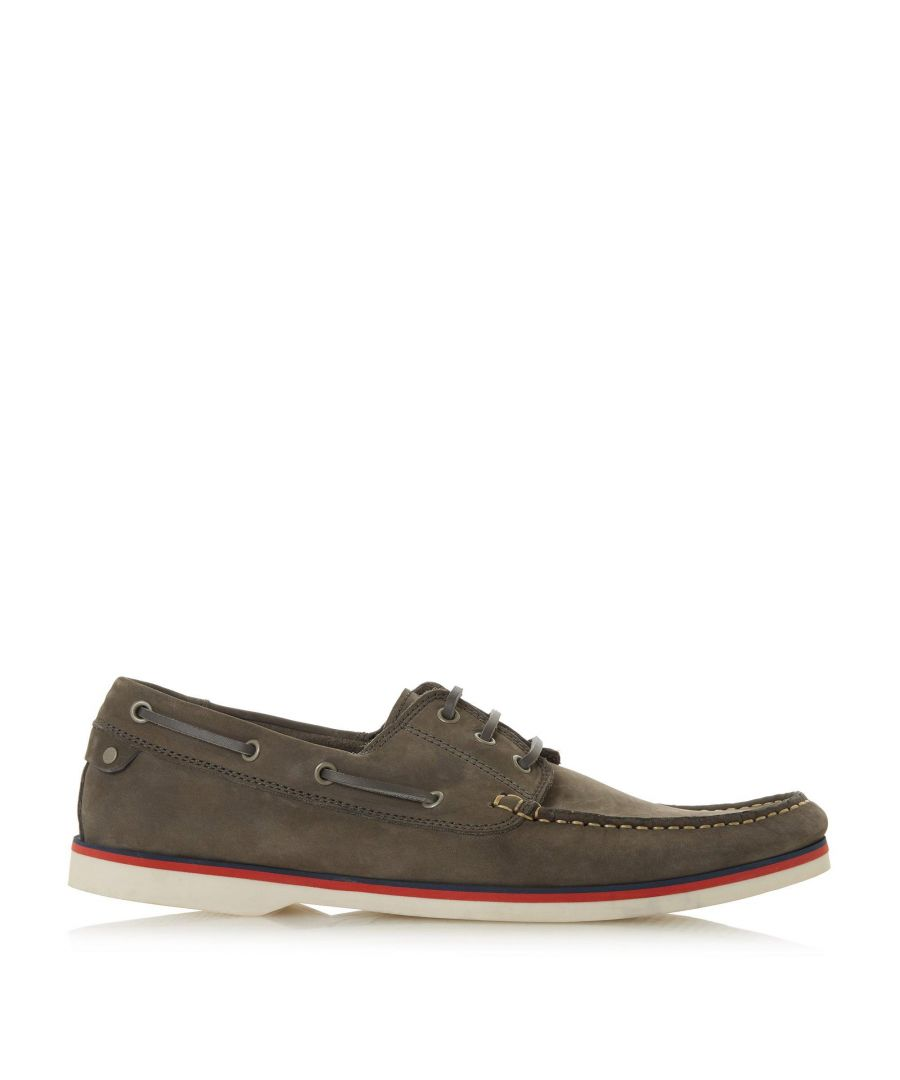 Image for Bertie Mens BATTLESHIP Nubuck Lace Boat Shoes