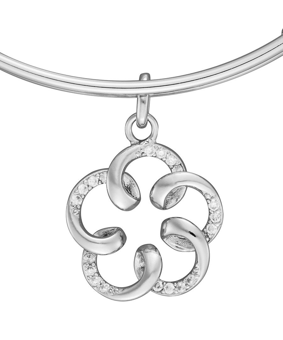 Image for Anne Jolie  Flower Charm Expandable Bangle