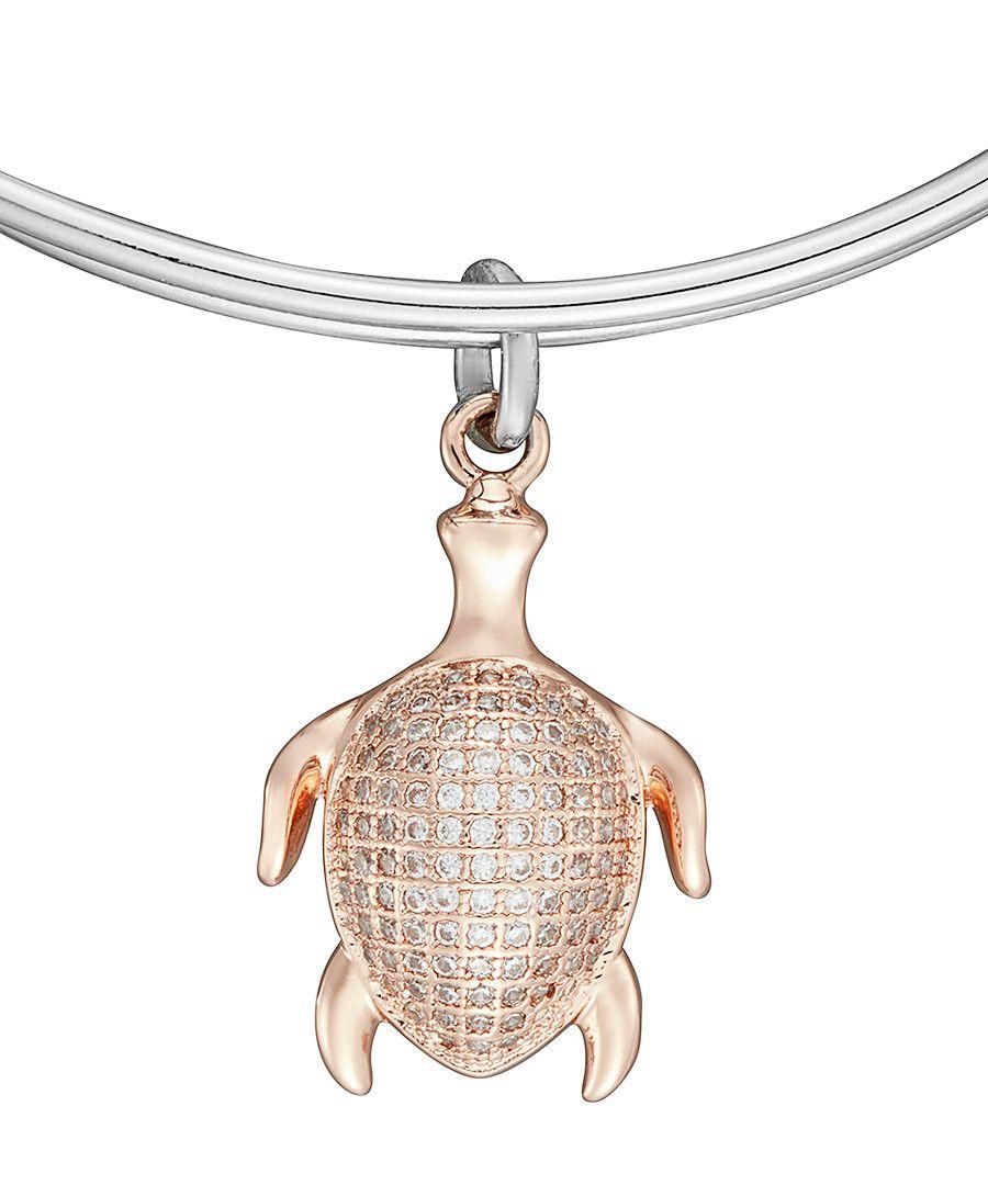 Image for Anne Jolie  Rose Gold Tortoise Charm Expandable Bangle