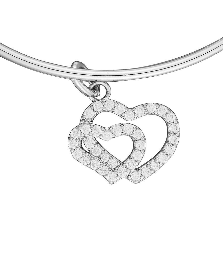 Image for Anne Jolie  Double Heart Charm Expandable Bangle