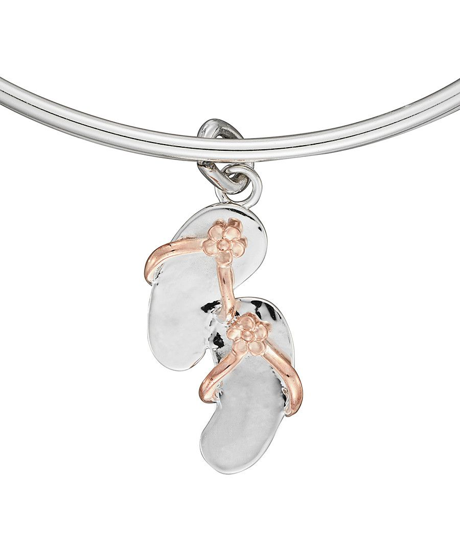 Image for Anne Jolie Two-tone Flipflop Charm Expandable Bangle