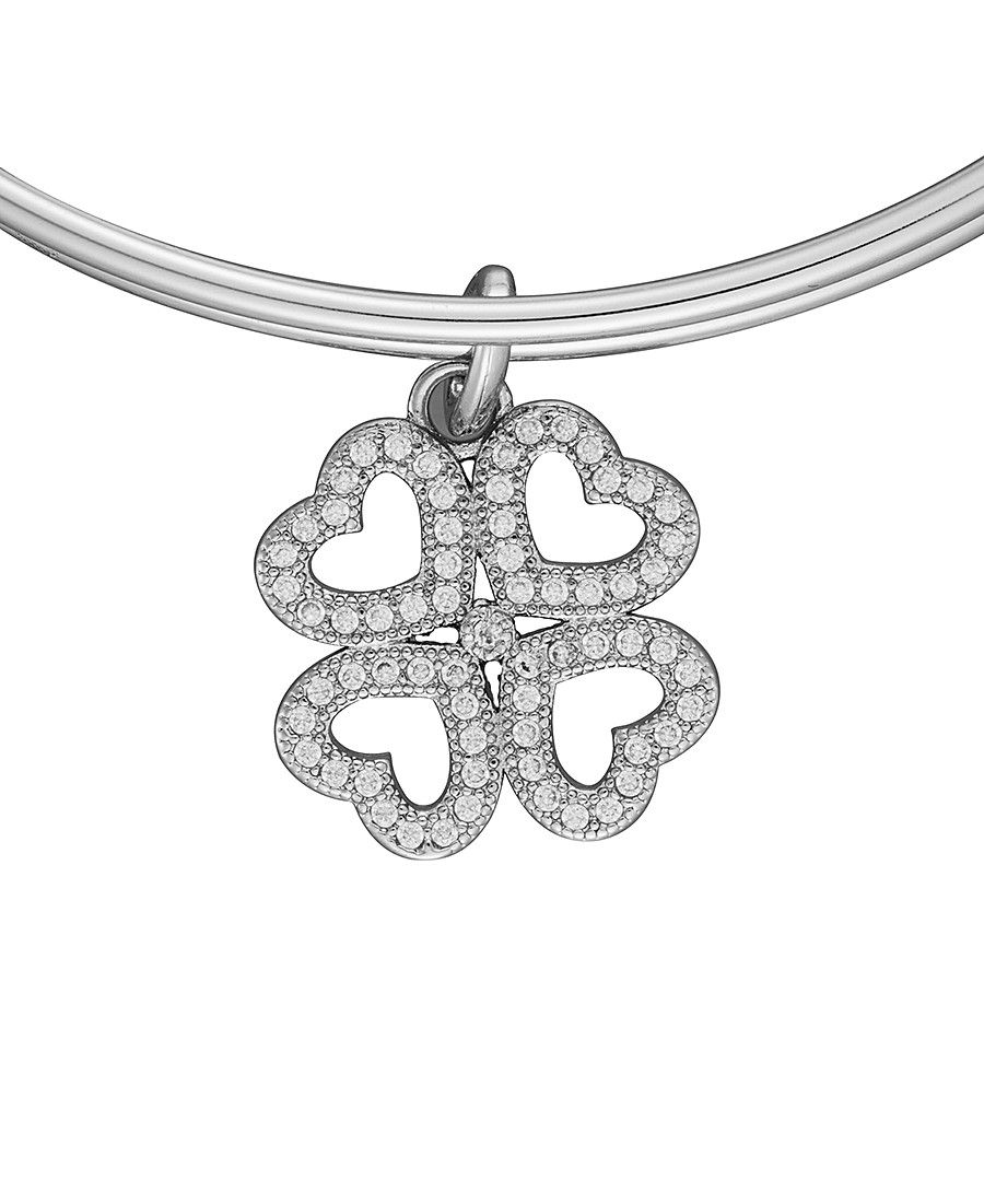 Image for Anne Jolie  Four Leaf Clover Charm Expandable Bangle