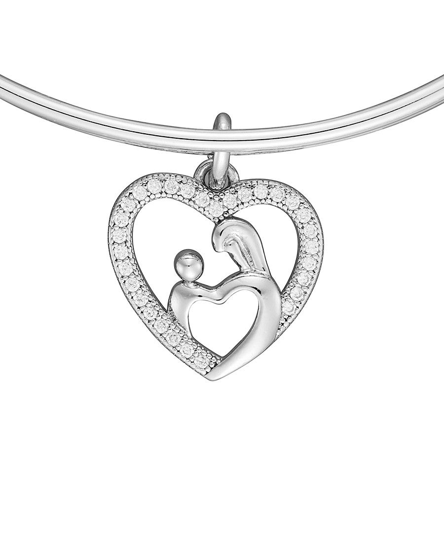Image for Anne Jolie Family Heart Charm Expandable Bangle