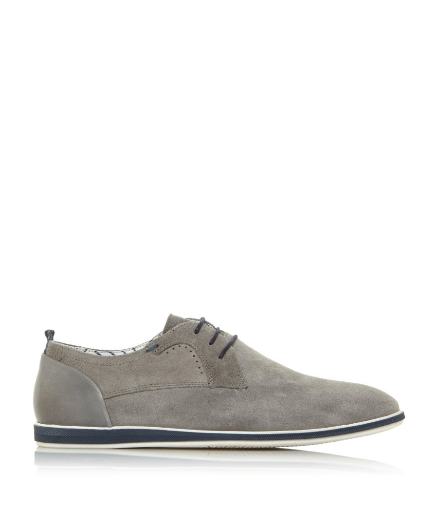Image for Dune Mens BEAD Suede Lace Up Gibson Shoes