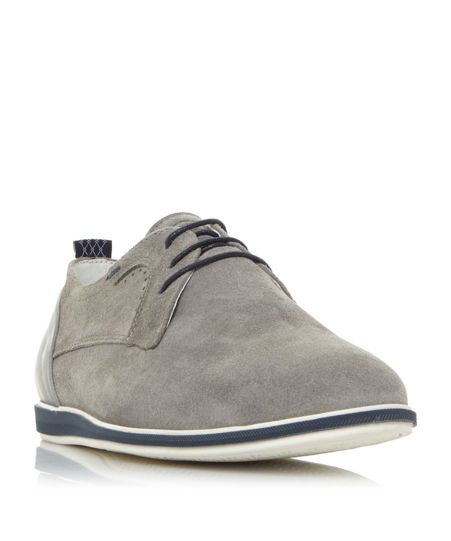 Image for Dune Mens BEAD Suede Lace Up Gibson Shoe