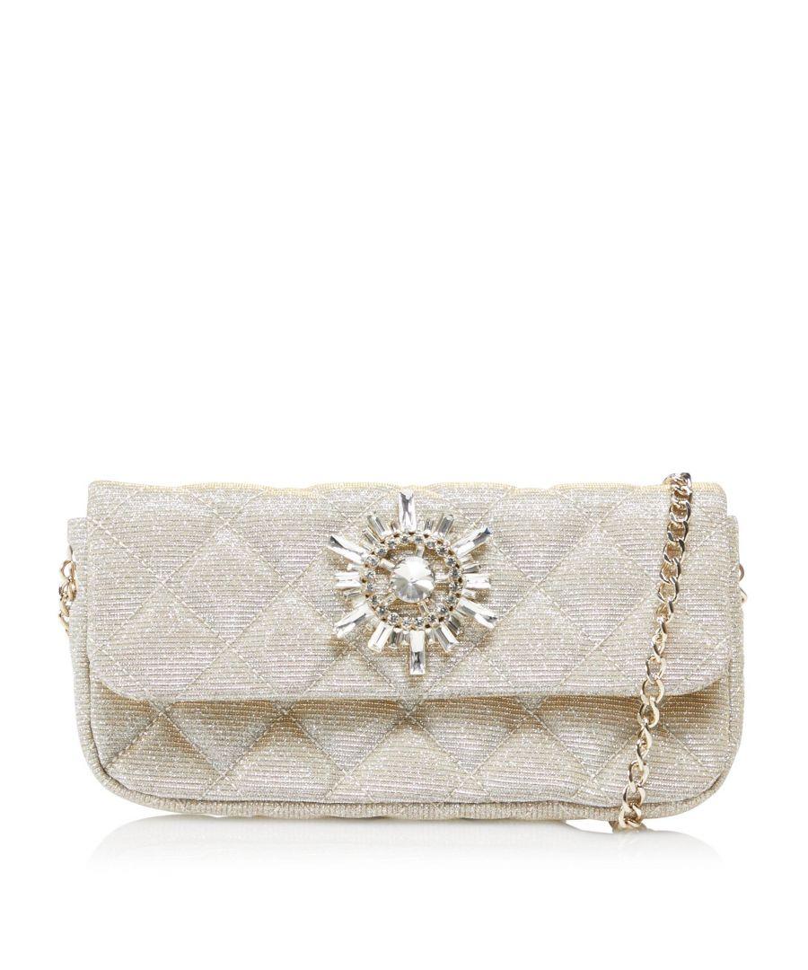 Image for Dune BEDAZZLE Diamante Trim Clutch Bag