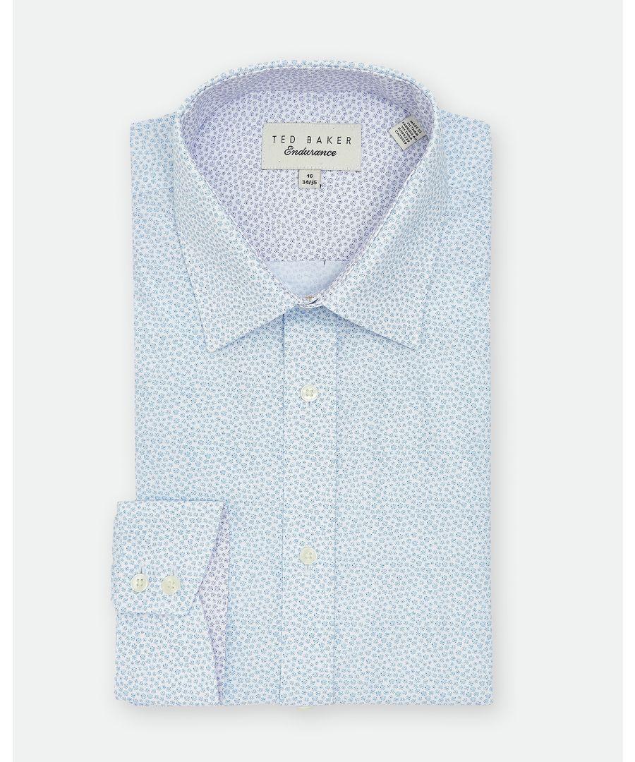 Image for Ted Baker Belugar Spot Print Endurance Shirt, Blue