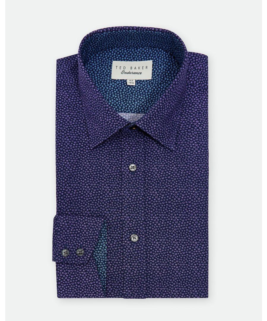 Image for Ted Baker Belugar Spot Print Endurance Shirt, Lilac
