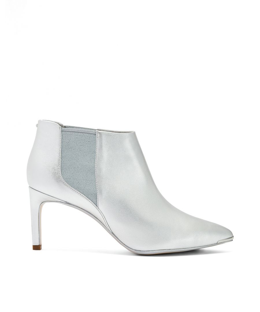 Image for Ted Baker Beriinl Leather Point Toe Boot, Silver