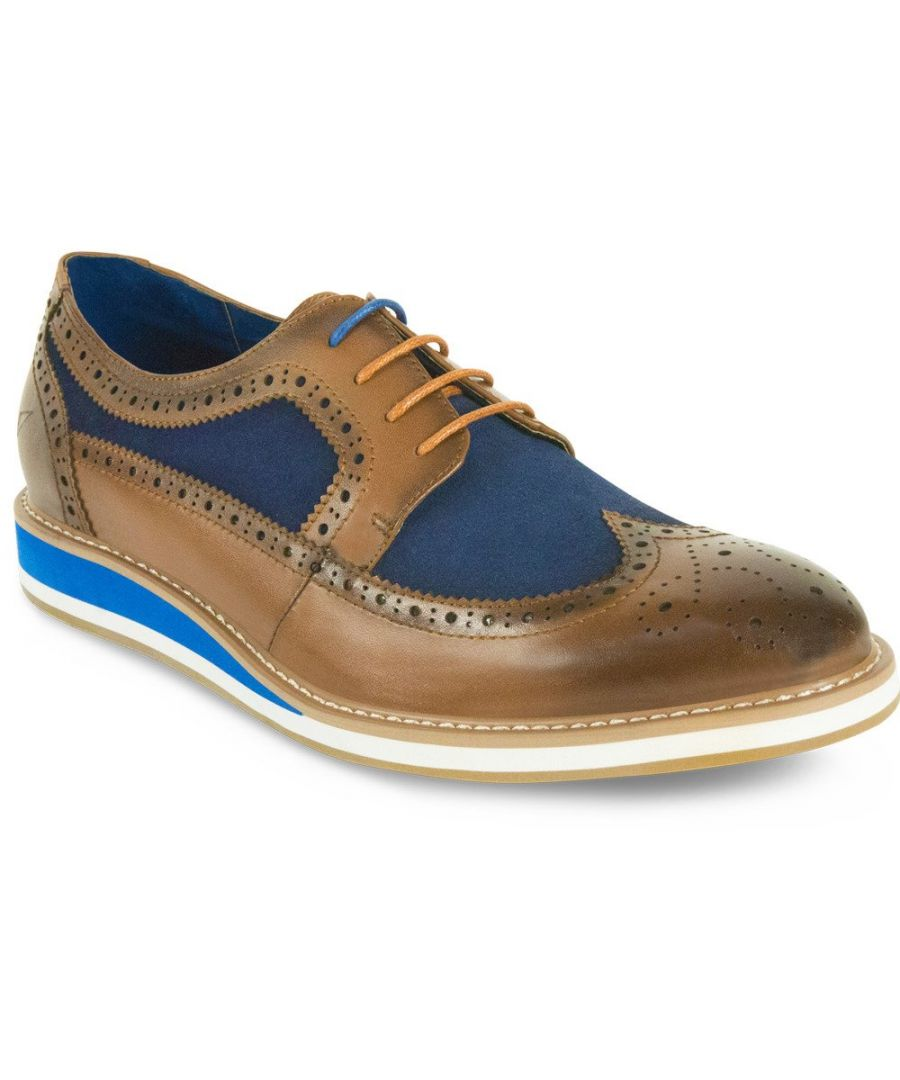 Image for Berkeley Tan / Navy Derby Shoe