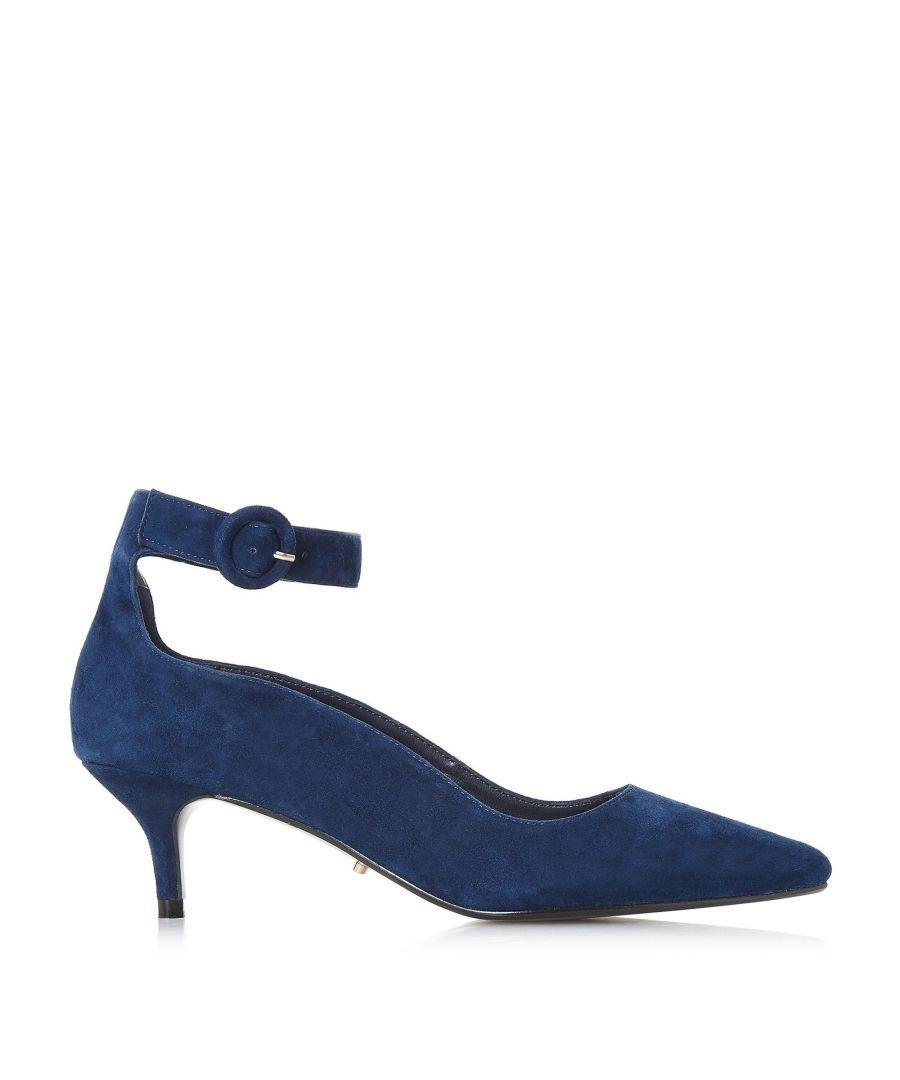Image for Dune Ladies BESTTE Wavy Topline Ankle Strap Court Shoe
