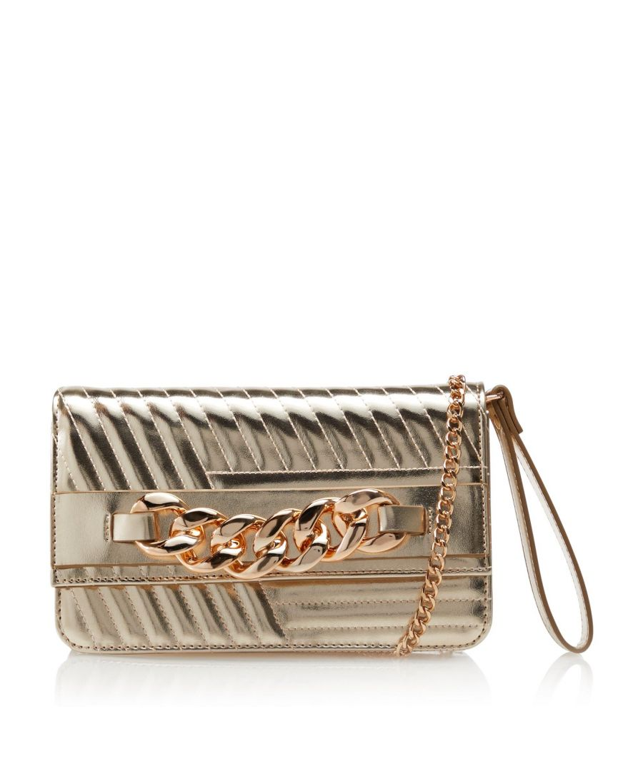 Image for Dune BETHANEY Linear Quilt Chain Clutch Bag