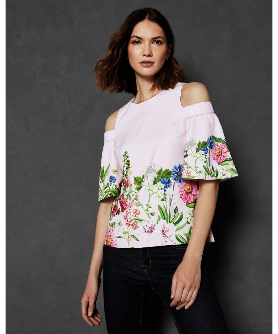 Image for Ted Baker Beyaa Florence Cut Out Shoulder Top, Light Pink