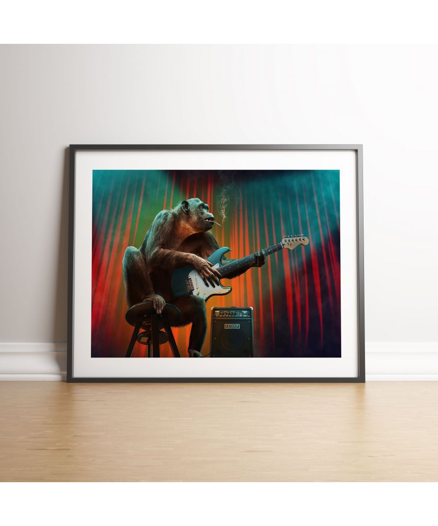 Image for Rock N Roll Ape - Black frame