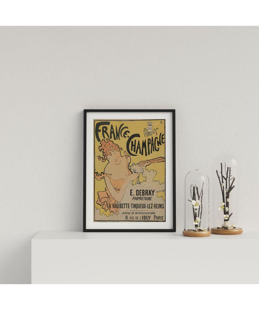 Image for Vintage French Champagne Advert - Black frame