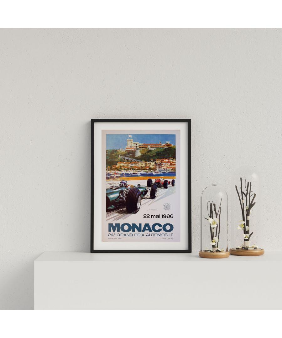Image for Retro Motor Racing Monaco GP 1966 - Black frame