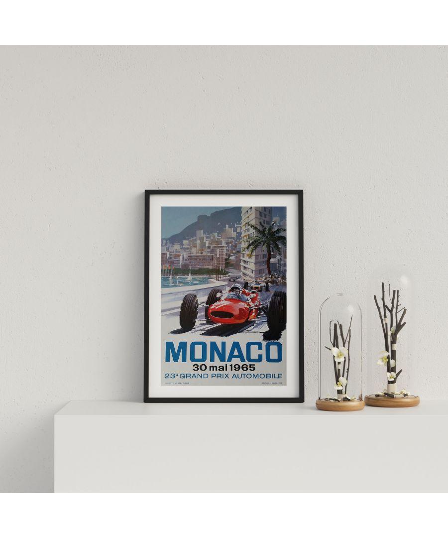 Image for Retro Motor Racing Monaco GP 1965 - Black frame