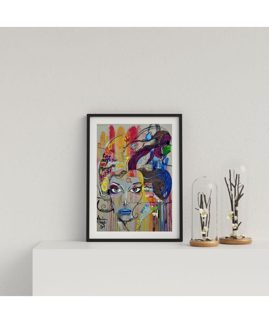 Image for Street Art Womans Face - Black frame
