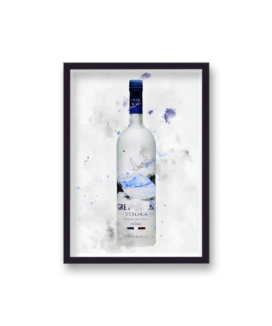 Image for Spirit Graphic Splash Print Grey Goose Vodka Inspired - Black Frame