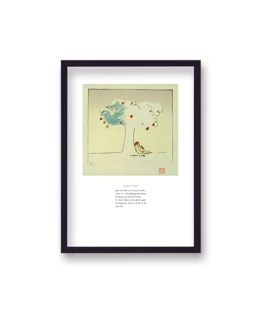 Image for John Lennon Personal Sketch Collection 11 Family Tree - Black Frame