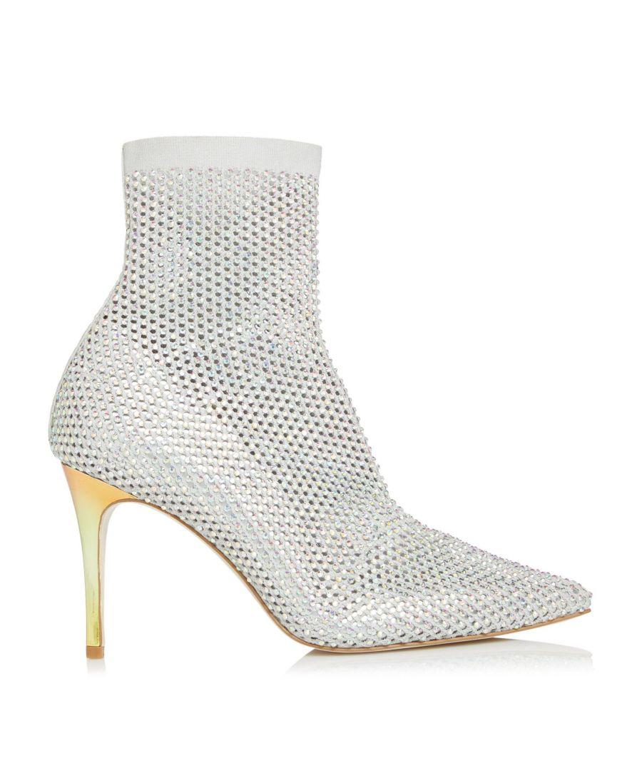 Image for Dune Ladies BILLIONAIRE Embellished Mesh Sock Court Shoes