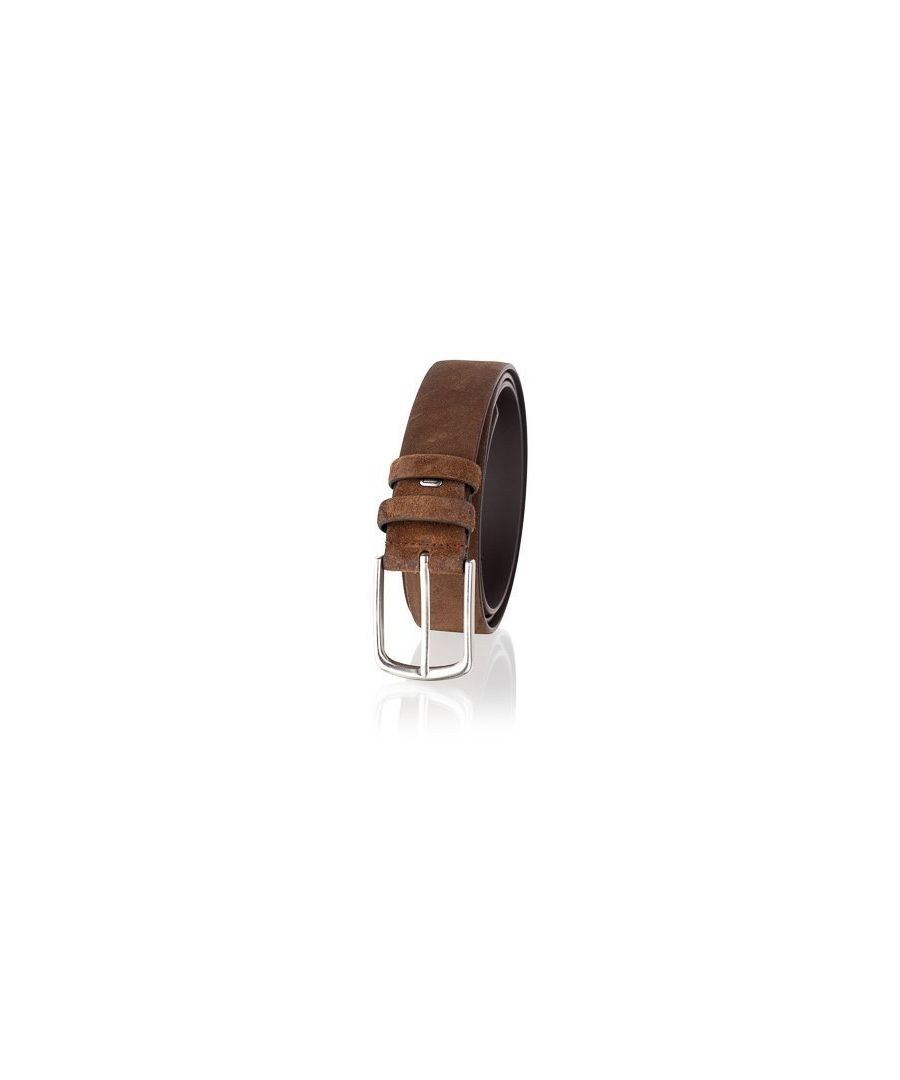 Image for Woodland Leathers Mid Brown 35mm Genuine Suede Leather