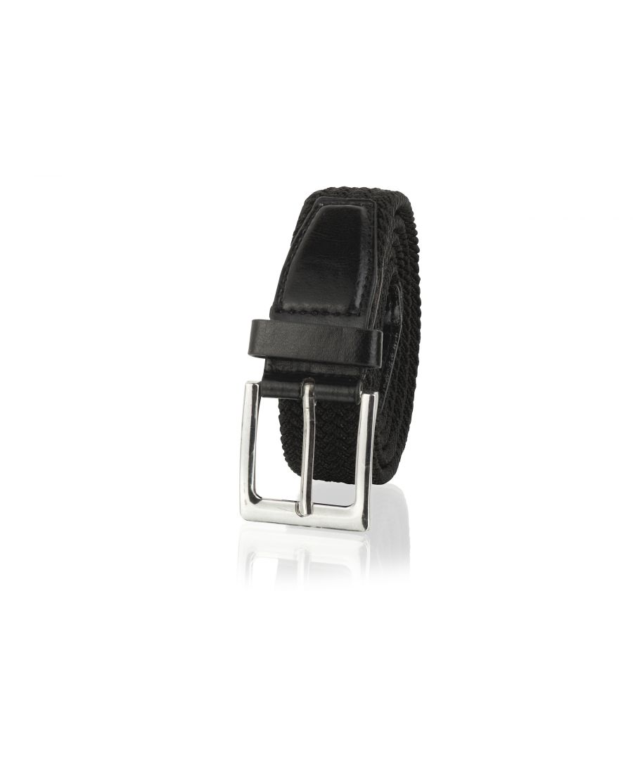 Image for Woodland Leathers Black 33mm Men's Casual Belt