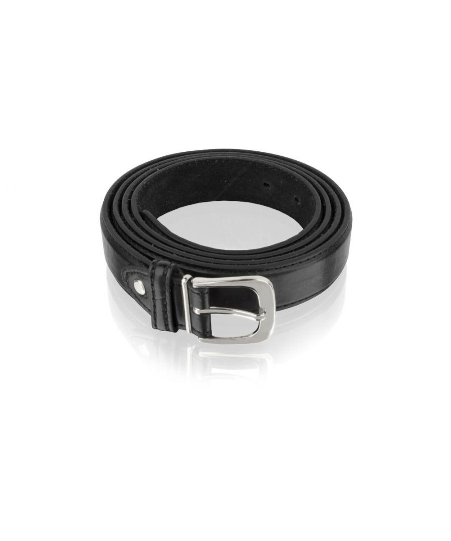 Image for Mens Classic Black Leather 18mm Belt