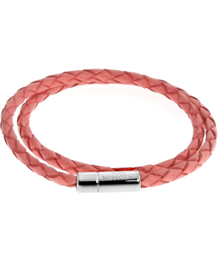Image for Silver  Leather  Rose Single wrap  M-37cm(L)  Scoubidou