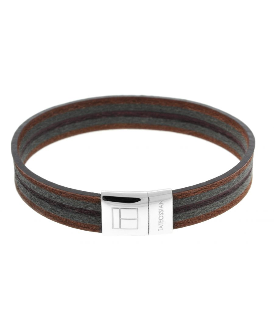 Image for Silver  Leatherer  Brown Single wrap  M-18cm(CF)  Leatherer Mosaic