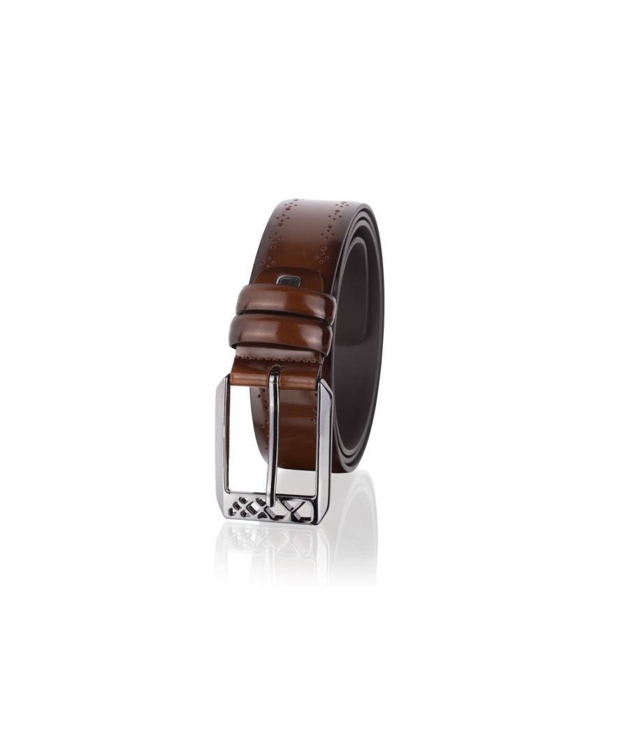 Image for Woodland Leathers Tan 33mm Casual Jean Belt with Elegant Buckle