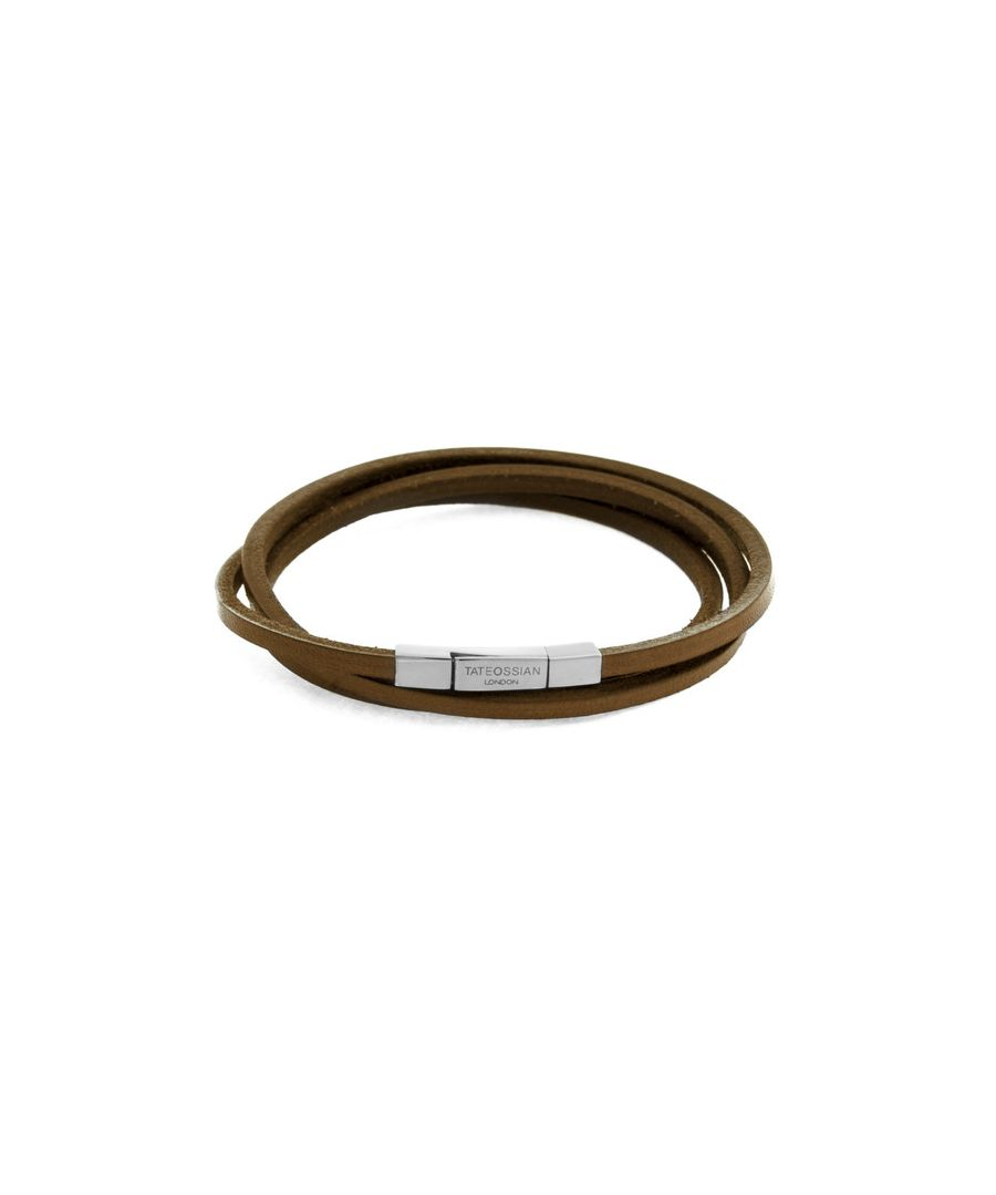 Image for Fetuccinni brown leather bracelet